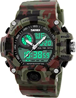 Gosasa Multi Function Military S-shock Camouflage Green Sports Watch LED Digital Waterproof Alarm Watches