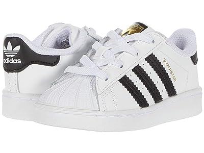 adidas Originals Kids Superstar EL (Infant/Toddler) (White/Black) Kids Shoes