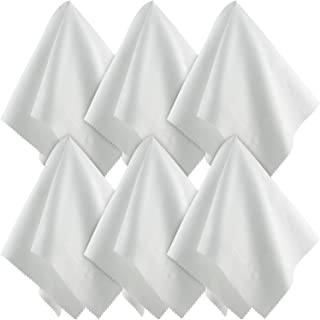 Large Microfiber Cleaning Cloths (15x15 Inch, 6 Pack) for Big TV Screens, Eyeglasses, Camera Lens, Smartphones and Tablets