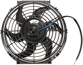 1set Universal 10inch 12V 80W Car Auto Slim Reversible Electric Radiator Cooling Fan Push Pull Engine Fan with Mounting Kits,Black