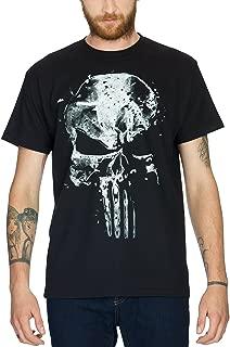 Camiseta de algodón con diseño de calavera de Punisher por Elbenwald, color negro