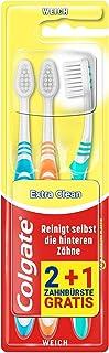 Colgate Tandenborstel Extra Clean zacht, 3 stuks, reinigt zelfs de achterste tanden