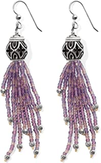 Brighton Boho Roots Tassel French Wire Earrings [PURPLE]