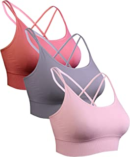 Sykooria sportbeha voor dames gevoerde beha Geen stalen ring met kruis terug ontwerp push-up bh sportbeha top voor yoga fi...