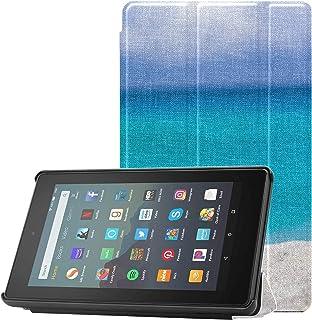 Pokrowiec Fire 7 ekspozytor piaszczysta tropikalna plaża z letnimi napojami pokrowiec Fire 7 do tabletu Fire 7 (9. generac...
