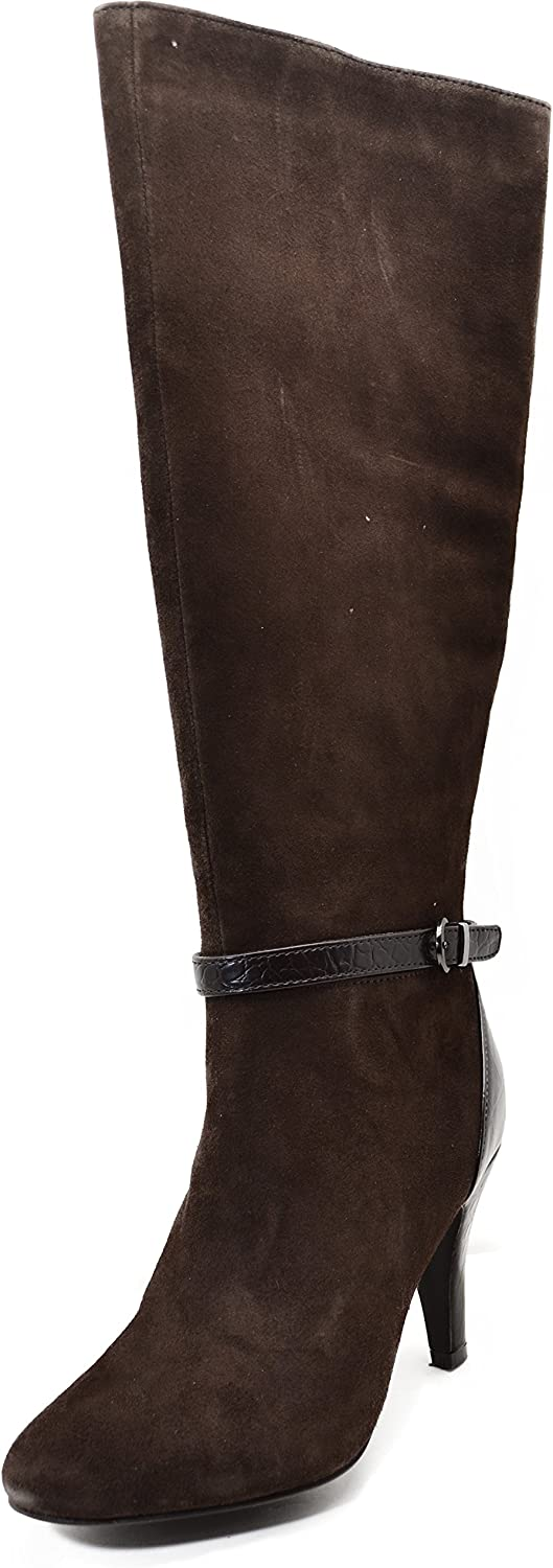 Alfani Women's Tosha Suede Knee High Dress Boots in Dark Brown Size 6.5