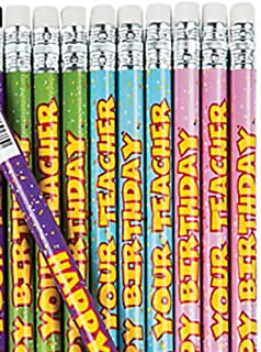 Happy Birthday From Your Teacher Pencils (24 Pencils)