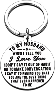 Valentines Day Gifts for Him Husband Boyfriend Gifts Keychain for Man from Her Women Anniversary Wedding Engagement Romant...