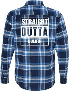 Straight Outta Duluth Flannel: Unisex Plaid Flannel Shirt