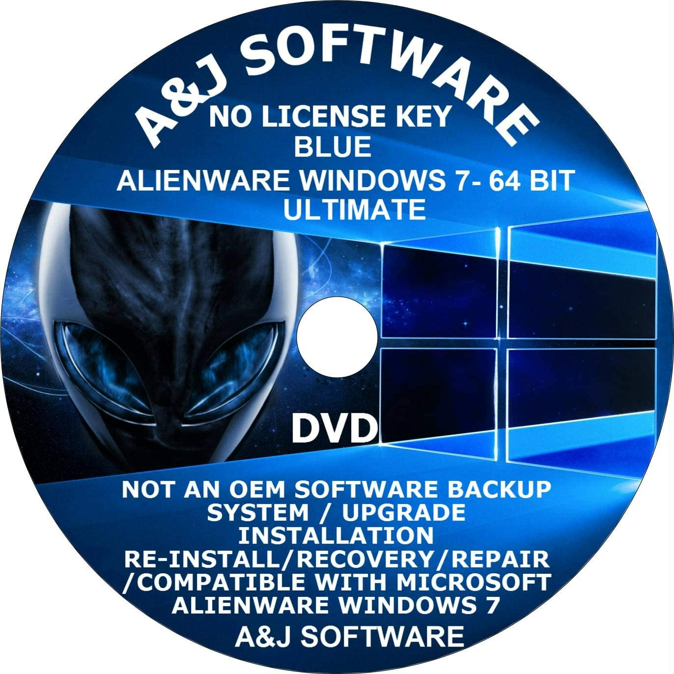 Windows 7 A. Ultimate Arlington Mall Blue Edition DVD LATEST 64-BIT VERSION ISO Directly managed store