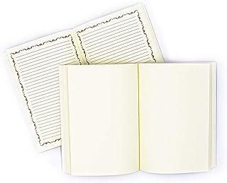 Ricambio Diario Grande Artigianale, formato A5, 250 pagine reali, Carta FSC - Made In Italy | FP Pelletterie (Fogli a righe)