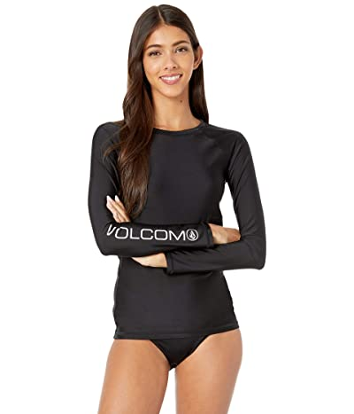 Volcom Simply Core Long Sleeve Rashguard (Black) Women
