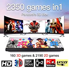 MOSTOP 3D & 2D Arcade Video Game Console 2350 Games in 1 Pandora's Box 160 3D Games 1080P HD 2 Players Arcade Machine with Double Joystick Support Expand 6000+ Games (2350 Hero Street Fighters)
