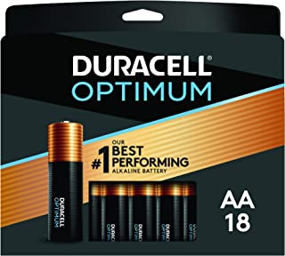 Duracell Optimum AA Batteries | 18 Count Pack | Lasting Power Double A Battery | Alkaline AA Battery Ideal for Household a...