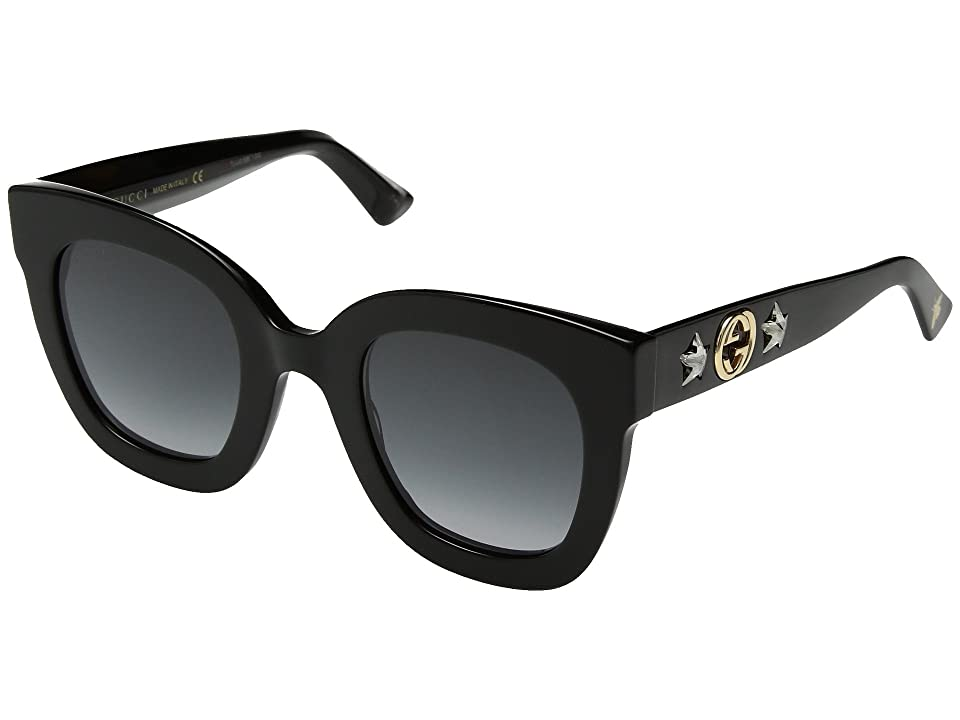 Gucci GG0208S (Black/Grey) Fashion Sunglasses