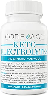 Codeage Keto Electrolyte Supplement Capsules for a Low Carb Diet or Ketogenic Diet, 180 Capsules