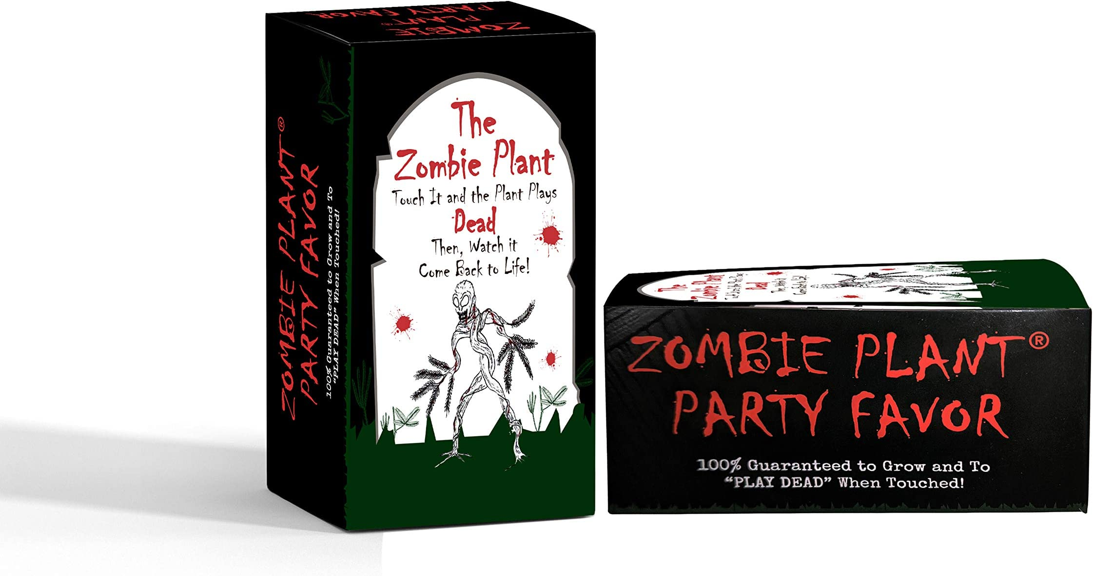 """Zombie Plant Party Favors (2) or Birthday Gift Giveaways - """"Plays Dead"""" When Touched. Includes Soil, Seeds & Mini Flower Pot. Supplies for Zombie Themed Event. Plant it as a Easter Party Activity"""