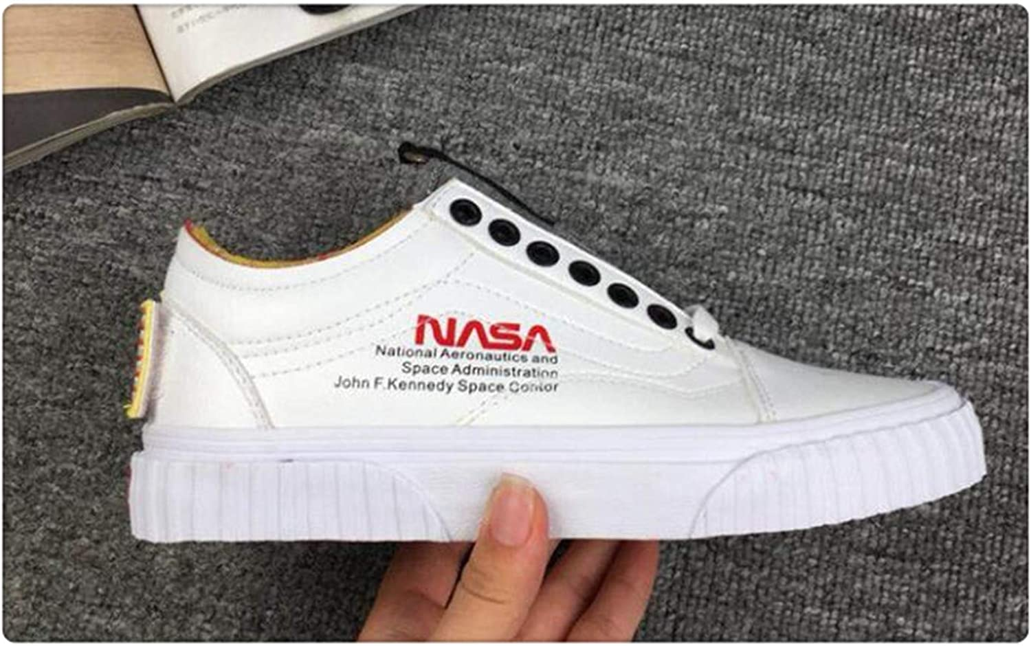 HROST& Original NASA x Old Skool Classic Unisex Canvas shoes Sneakers Men shoes