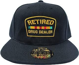Retired Drug Dealer Black Streetwear Adjustable Snapback Hats Caps
