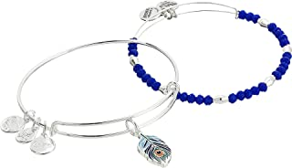 Alex and Ani Womens Color Infusion Peacock Set of 2