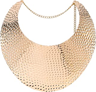 Chunky Bib Statement Torque Choker Necklaces. Jewelry Set for Women and Girls.