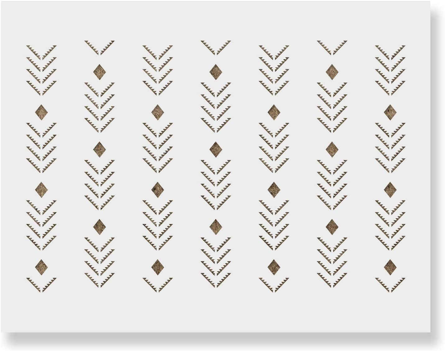 price Zoom Arrow Pattern Wall Stencil - Home Your Decorate for Less New Shipping Free Shipping