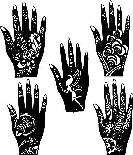 Ivana's Tatto Stencil for   Hand   Body   Face   Heena Art Temporary Tatto for Girls & Women, Design No. 1026