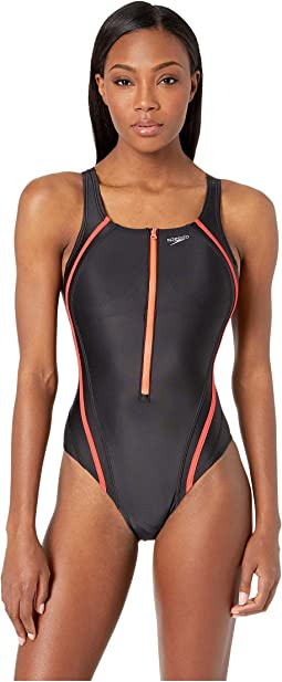 Zip Quantum Splice Swimsuit