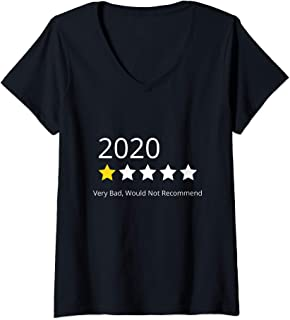 Womens 1 star review 2020 Very Bad Would Not Recommend V-Neck T-Shirt