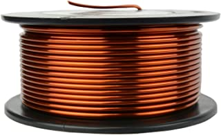 TEMCo 12 AWG Copper Magnet Wire - 1 lb 50 ft 200°C Magnetic Coil Winding