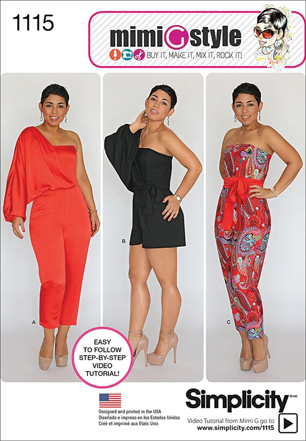 Simplicity 1115 Women's Jumpsuit Romper Sewing Pattern by Mimi G, Sizes 6-14