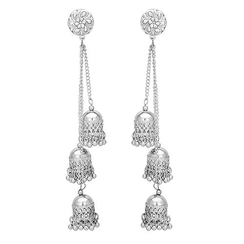1b30d9233b1 Silver Earrings: Buy Silver Earrings Online at Best Prices in India ...
