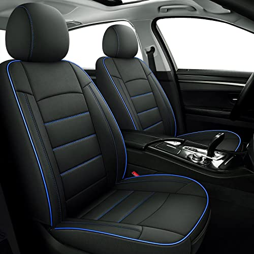 wholesale Coverado Universal Seat Cover Front Pair 2PCS, Waterproof Neoprene Car Seat Cushions, Protective sale Auto Interiors Fit for high quality Most Cars Trucks Vans SUVs, Black&BlueTrim online