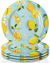 Trina Turk Melamine Set of 4 Dinner Plates Unbreakable, Lightweight Indoor & Outdoor Dinnerware Set for Home Entertaining,...