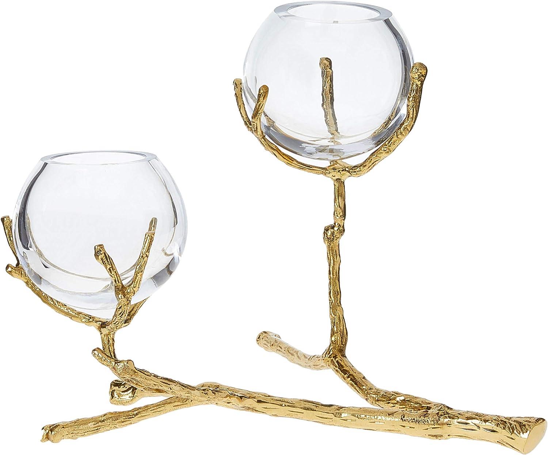 Amazon.com Global Views TWIG 20 Holder Brass Vase, Nickel  Home ...