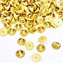 50Pcs Metal Locking Pin Backs, Premium Pin Keepers Locking Clasp, Brass Butterfly Clutch Badge Insignia Clutches Pin Backs, Lapel Pin Clutch Back Scatter Butterfly Clutch Squeeze Badge HOL