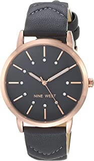 Nine West Women's Crystal Accented Patterned Strap Watch, NW/2570