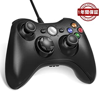 Nuyoo xbox 360 コントローラー PC USB ゲームパッド 有線ゲームパッド Microsoft Xbox Slim 360 PC Windows 7に対応