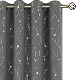 BGment Blackout Curtains 84 Inch Length 2 Panels Set Grommet Thermal Insulated Room Darkening Window Curtains with Wave Li...