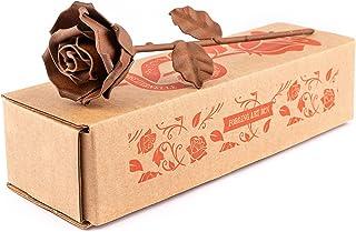 Ewige Rose aus Schmiedeeisen - Handgeschmiedet (Rost)