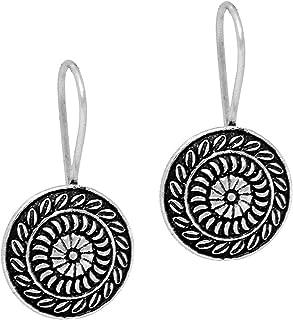 Jaipur Mart Handmade Rajasthani Oxidised Silver Dangle & Drop Earrings Jewellery For Women And Girls