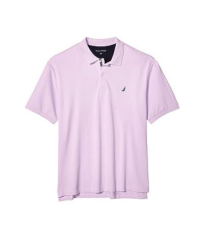 Nautica Big & Tall Big Tall Short Sleeve Solid Deck Shirt (Purple) Men