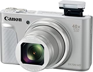 Canon PowerShot SX730 Digital Camera w/40x Optical Zoom & 3 Inch Tilt LCD - Wi-Fi, NFC, Bluetooth Enabled (Silver)