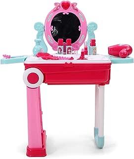 Smartcraft Fashion Beauty Play Set with Trolley, 2 in 1 Beauty Play Set with Luggage Trolley for Kids