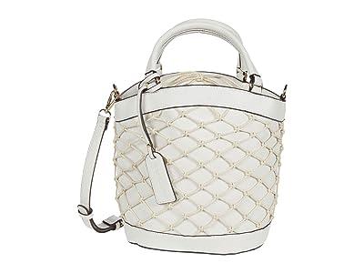 SOLE / SOCIETY Jubah Satchel (White) Handbags