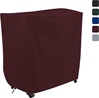 COVERS & ALL Bar Cart Cover 18 Oz Waterproof - 100% UV & Weather Resistant Outdoor Cart Cover with Air Pocket and Drawstring for Snug Fit (32