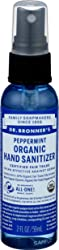 Dr Bronners, Hand Sanitizer Peppermint Organic, 2 Fl Oz