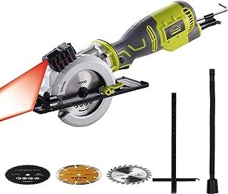 Circular Saw, DEWINNER 705W Compact Mini Electric Saw with 3 Saw Blade,Max Cutting Depth Laser Guide, Pure Copper Motor Id...