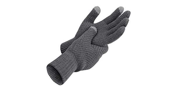 Bodvera Winter Touchscreen Warm Wool Lined Knitted Gloves for Men//Women Texting for Smartphones