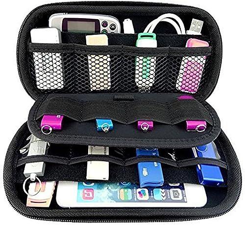 Ropch Organisateur de câbles électroniques Sac de USB Sac de voyage Rangement d'accessoires pour voyage Sac de protec...